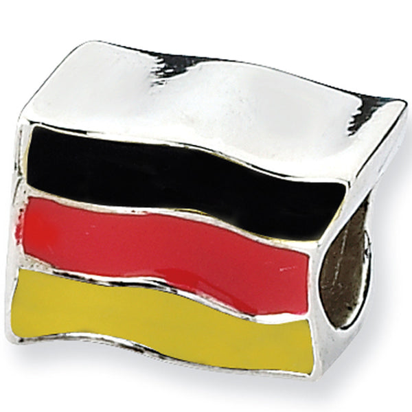 Reflections Beads Silver Enamel German Flag Travel Bead