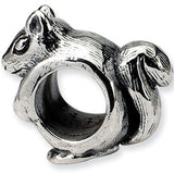 Reflections Beads Silver Squirrel with Nut Animal Bead