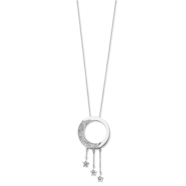 Sterling Silver I Promise You the Moon and Stars Sentimental Expressions Necklace