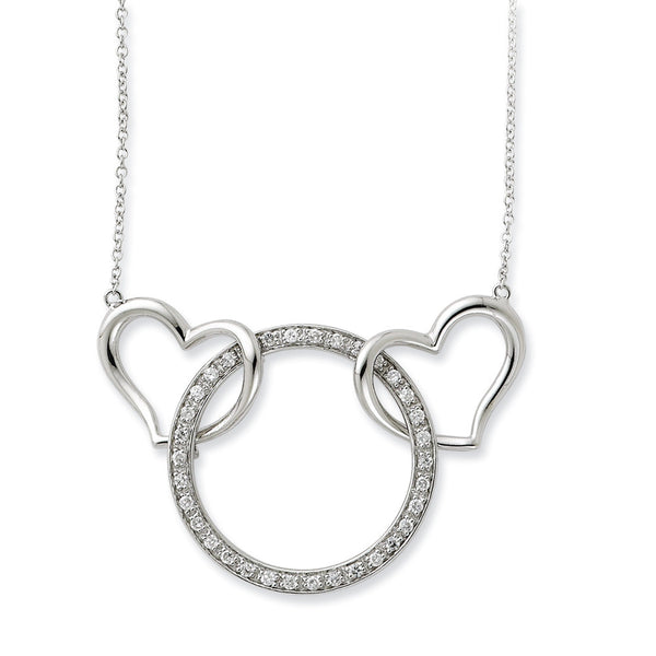 Sterling Silver One Love One Lifetime Sentimental Expressions Necklace