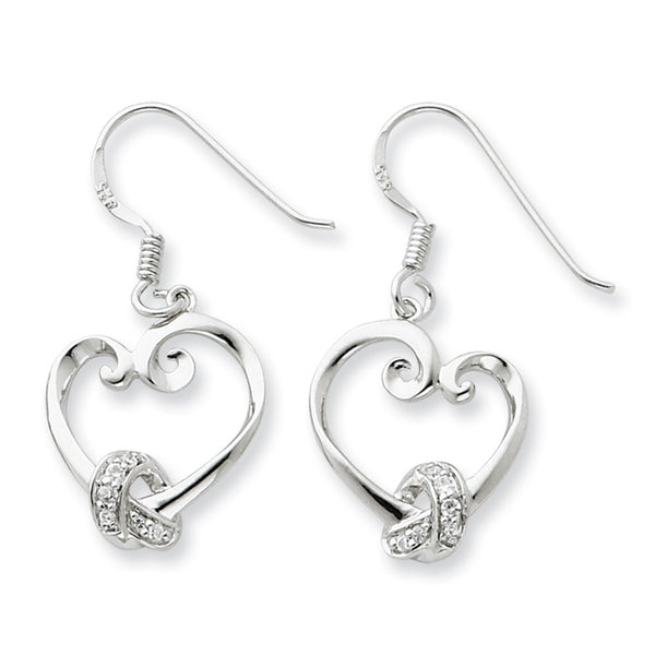Sterling Silver Love Knots Heart Sentimental Expressions Earrings