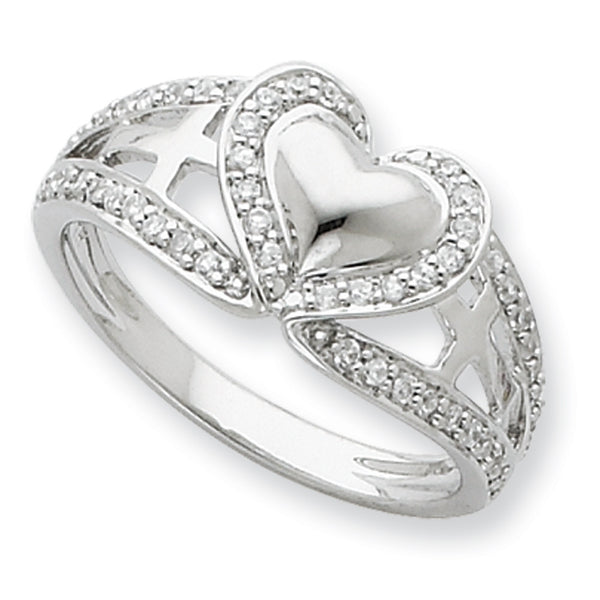 Sterling Silver  Pure Heart Sentimental Expressions Ring