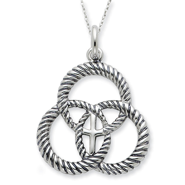 Sterling Silver Threefold Cord Sentimental Expressions Necklace