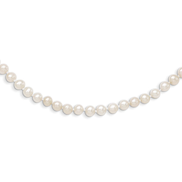 14kt Yellow Gold 3mm Freshwater Pearl 14 Inch Girls Necklace