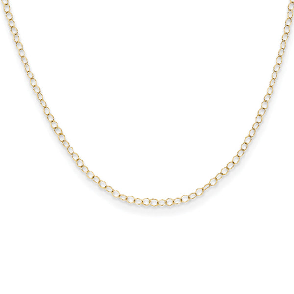 14kt Yellow Gold 15 Inch Delicate Cable Chain Girls Necklace