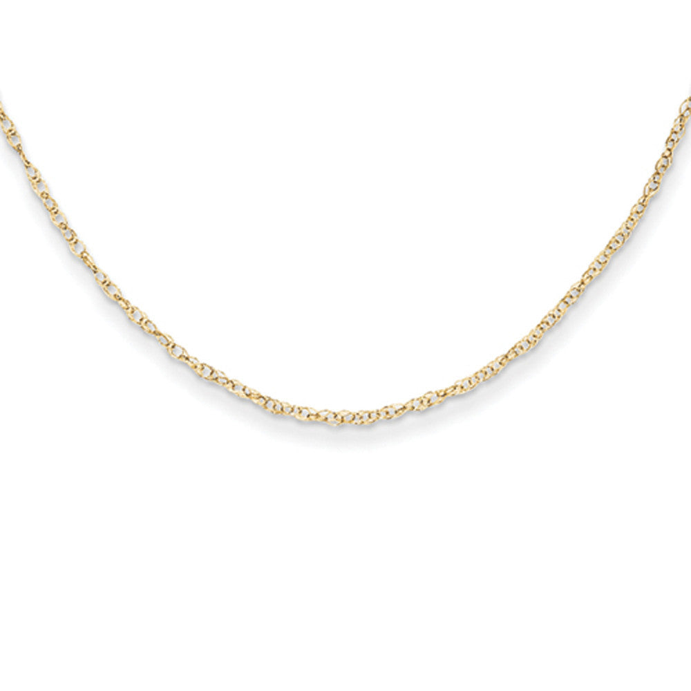 14kt Yellow Gold 13 Inch Delicate Rope Chain Girls Necklace ...