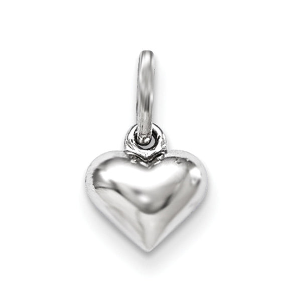 925 Sterling Silver Bright 3D Hollow Hearts Girls Pendant