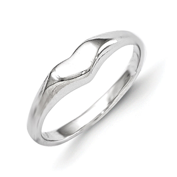 925 Sterling Silver Bright Hollow Heart Girls Fashion Ring