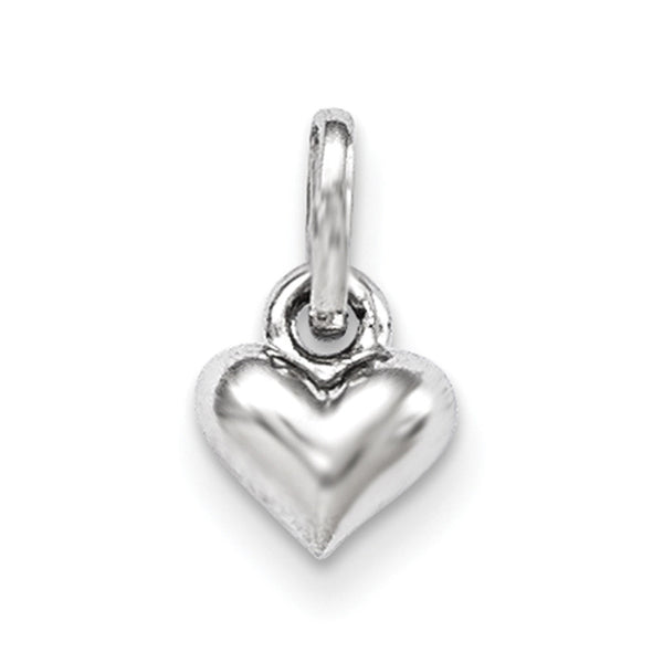 925 Sterling Silver Bright 3D Hollow Hearts Girls Petite Pendant