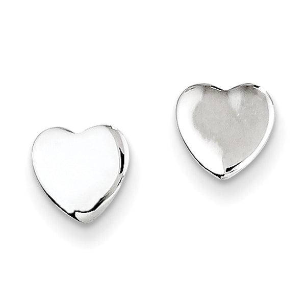 925 Sterling Silver Classic Heart Girls Stud Earrings