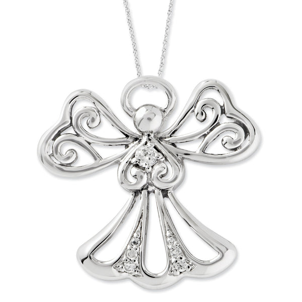 Sterling Silver Angel of Kindness Sentimental Expressions Necklace