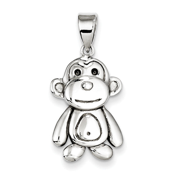 925 Sterling Silver Smiling Monkey Girls Fashion Pendant
