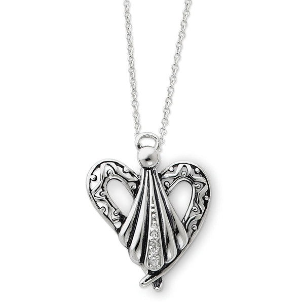 Sterling Silver Angel of Friendship Sentimental Expressions Necklace