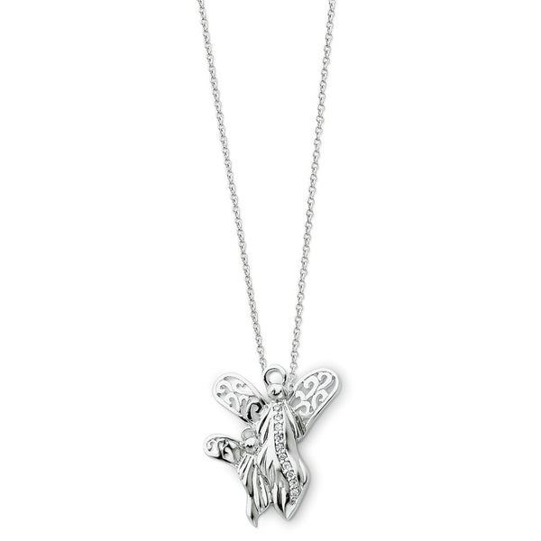 Sterling Silver Angel of Motherhood Sentimental Expressions Necklace
