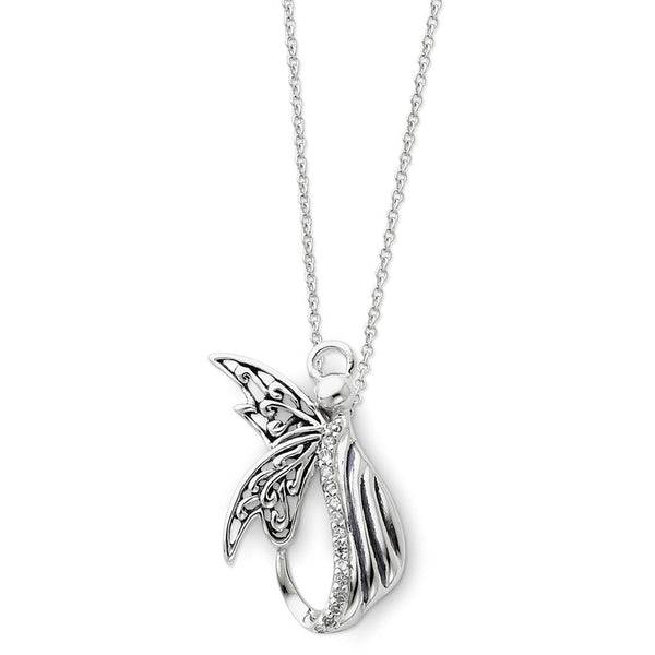 Sterling Silver Angel of Perseverance Sentimental Expressions Necklace