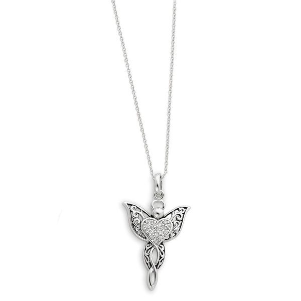 Sterling Silver Angel of Blessing Sentimental Expressions Necklace