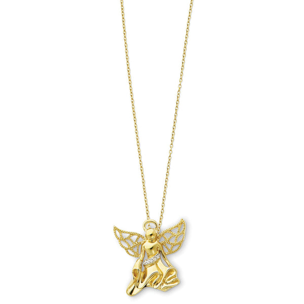 Sterling Silver Angel of Gratitude Sentimental Expressions Necklace