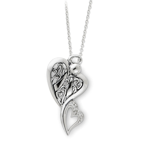 Sterling Silver Angel of Protection Sentimental Expressions Necklace