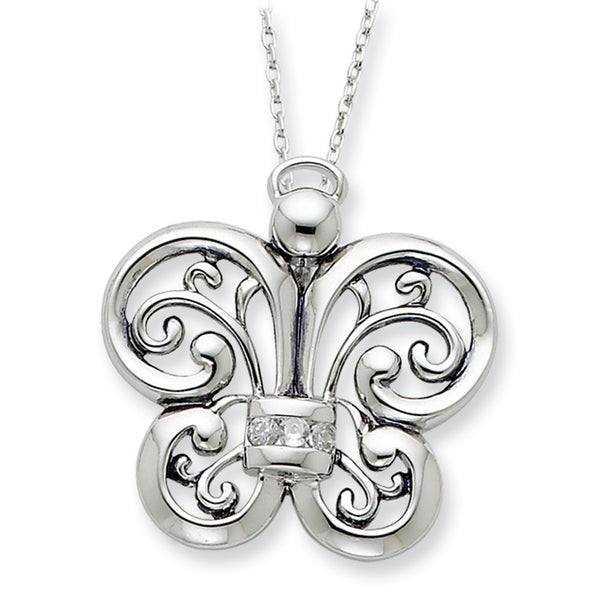 Sterling Silver Angel of Courage Sentimental Expressions Necklace