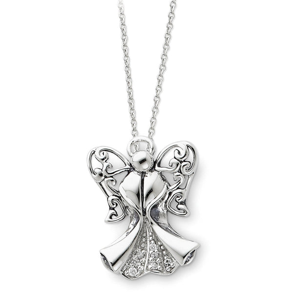 Sterling Silver Angel of Strength Sentimental Expressions Necklace