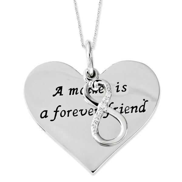 Sterling Silver Mother is a Forever Friend Sentimental Expressions Necklace