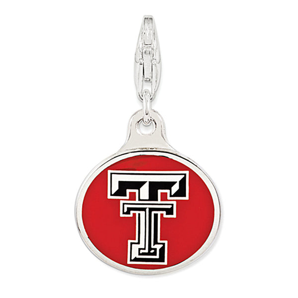 925 Sterling Silver Licensed Collegiate Texas Tech University Charm