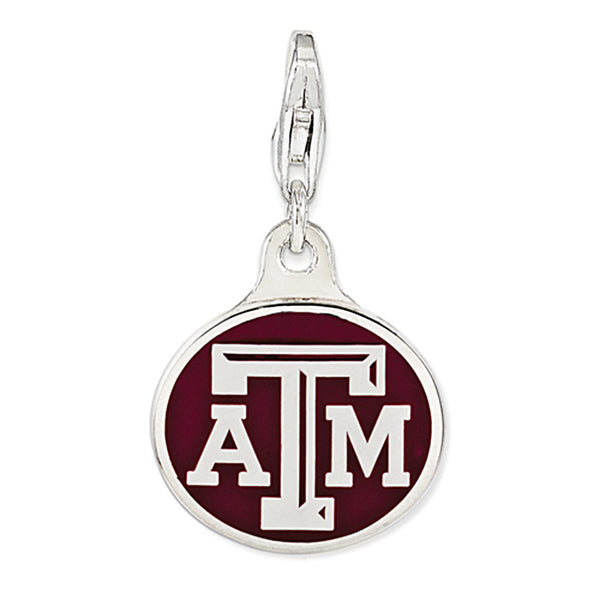 925 Sterling Silver Licensed Collegiate Texas A&M University Charm