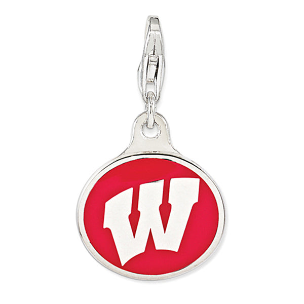 925 Sterling Silver Licensed Collegiate University of Wisconsin Charm