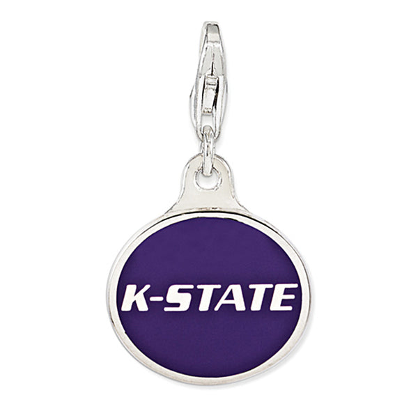925 Sterling Silver Licensed Collegiate Kansas State University Charm