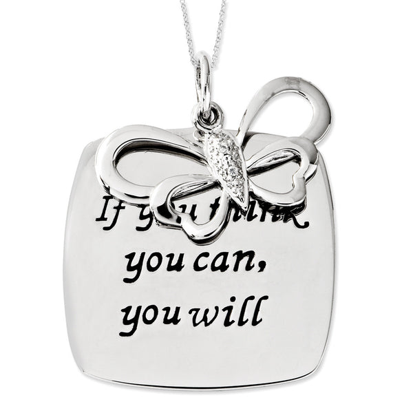Sterling Silver If You Think You Can Sentimental Expressions Necklace