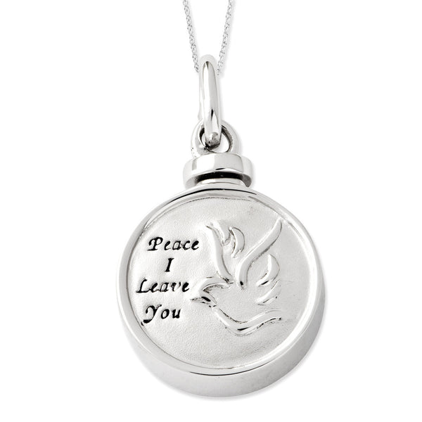Sterling Silver Bird Ash Holder Sentimental Expressions Necklace