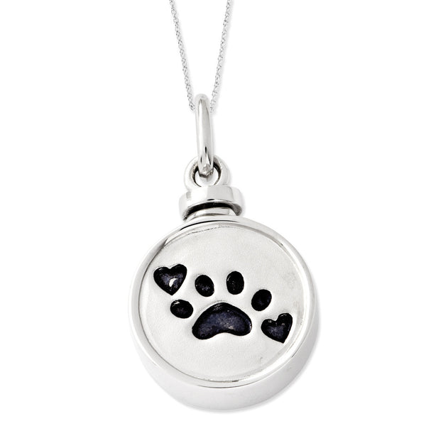 Sterling Silver Best Friend Animal Ash Holder Sentimental Expressions Necklace