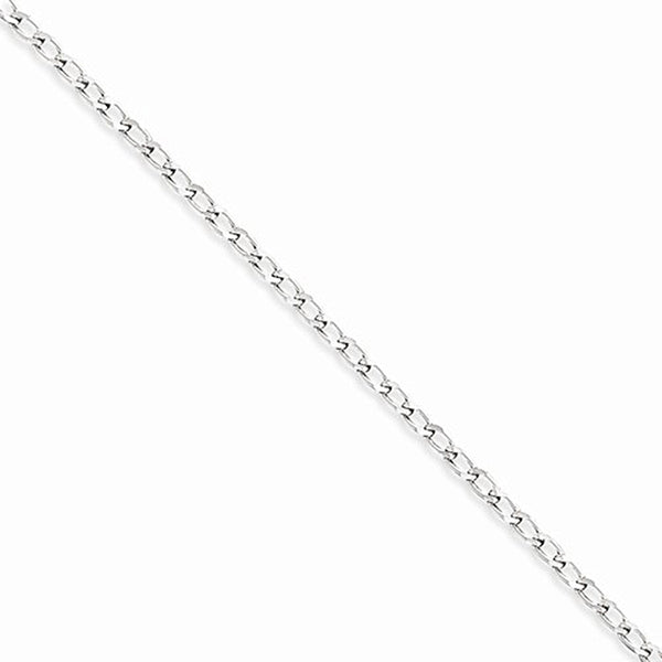 925 Sterling Silver 7 Inch Casted Curb Chain Ankle Bracelet