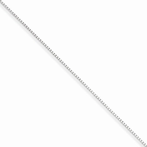 925 Sterling Silver 7 Inch Adjunct Box Chain Ankle Bracelet