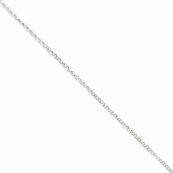925 Sterling Silver 9 Inch Serene Rolo Chain Ankle Bracelet