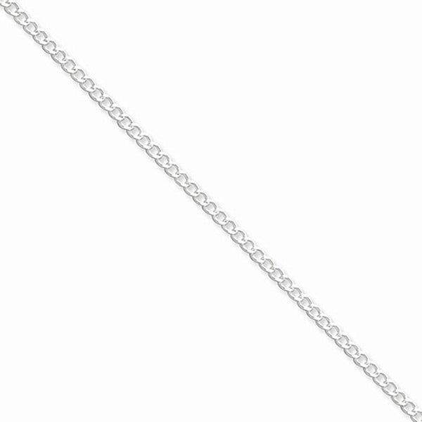925 Sterling Silver River Rapids Curb Chain Ankle Bracelet