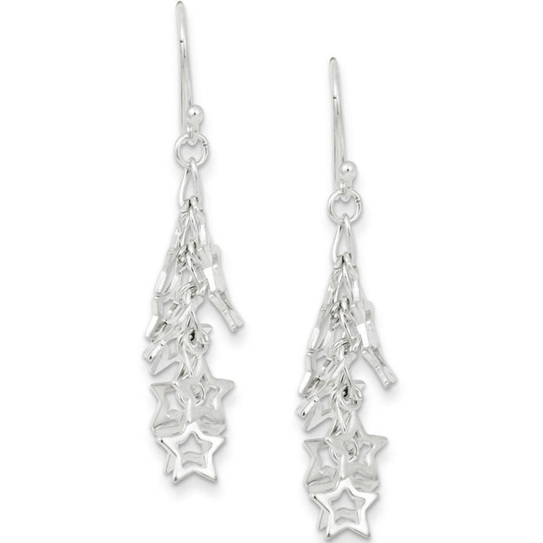 925 Sterling Silver Bundle of Stars Dangle Earrings