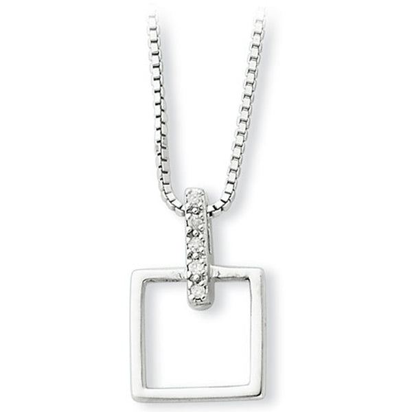 White Ice Sterling Silver Genuine Diamond Necklace