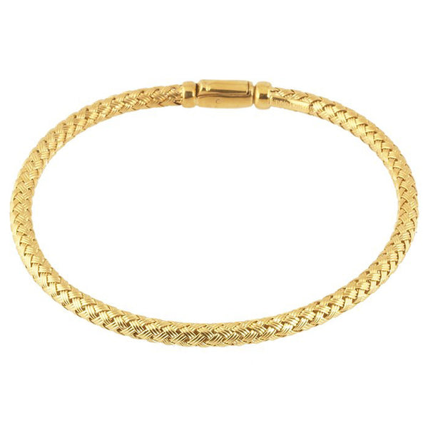 Sterling Silver Gold Plated Braided Bracelet