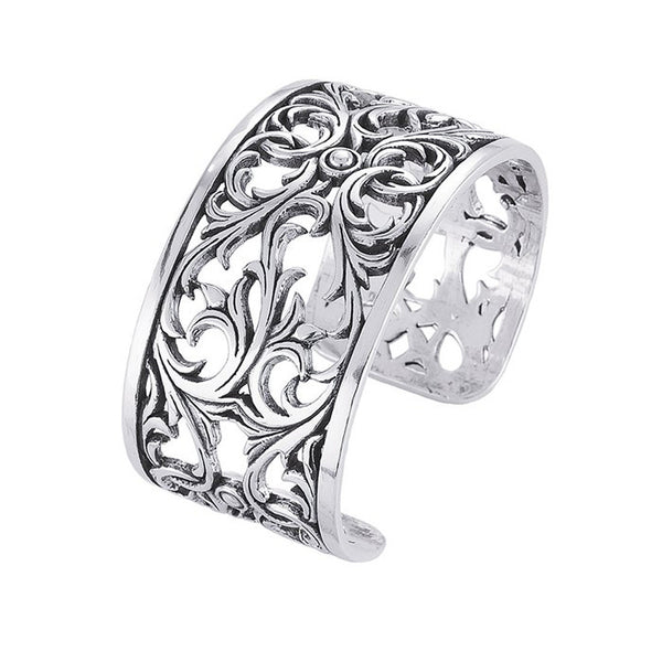 Sterling Silver Filigree Cuff Bracelet 35mm