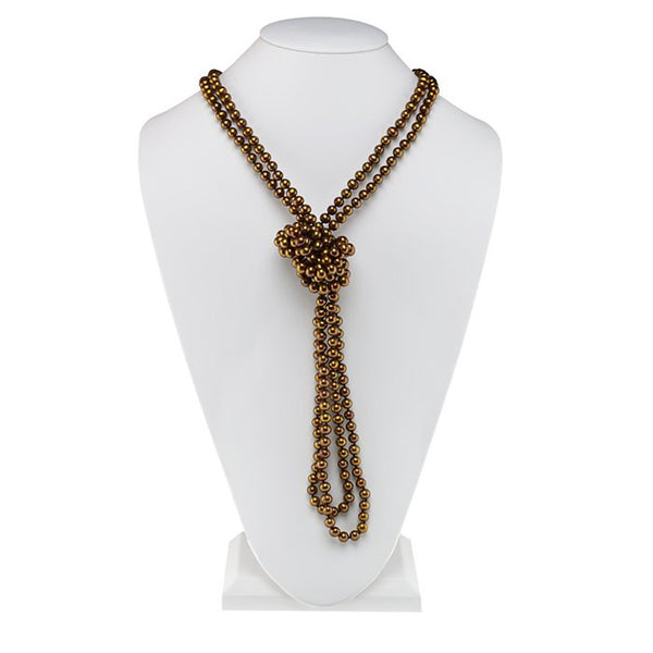 Chocolate Freshwater Pearl Necklace - 100 Inches