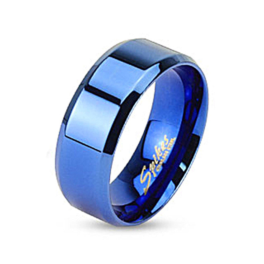 rings blue visonjewelry s plain classic com steel simple on piece store online with dhgate for product engraving custom wedding fashion free in black stainless lovers