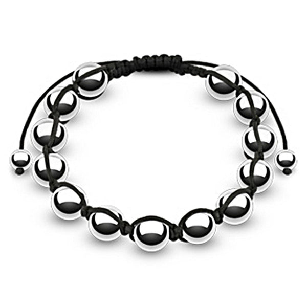 Spikes Adjustable Metallic 10mm Polished Mirror Shamballa Bracelet
