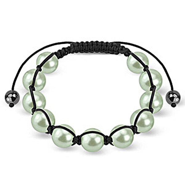 Spikes Pearled Pastel Green 10mm Shamballa Bracelet