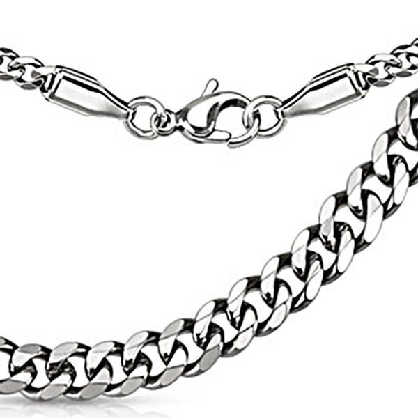 Spikes 316L Steel Curb Chain Necklace