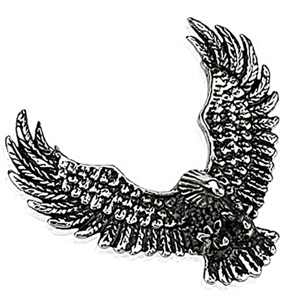 Spikes 316L Steel Soaring Eagle Pendant with 2 Slots for Chains