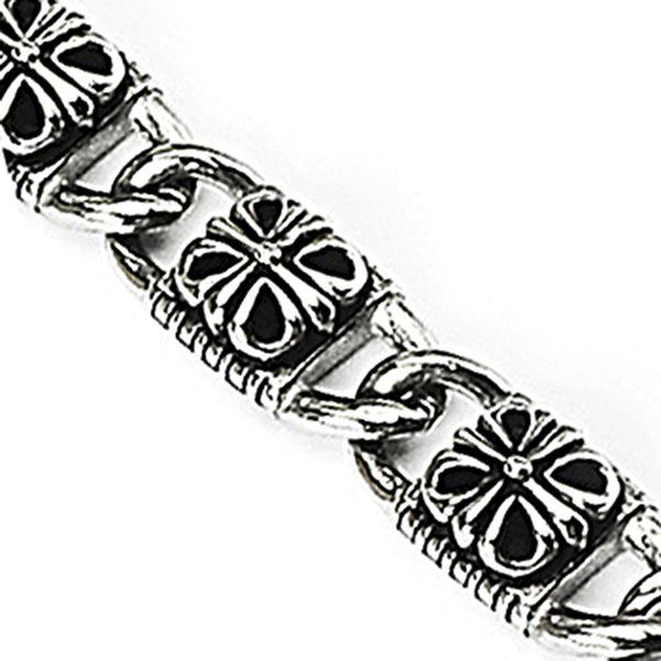 SPIKES 316L Stainless Steel Mayan Lamar Inspired Bracelet