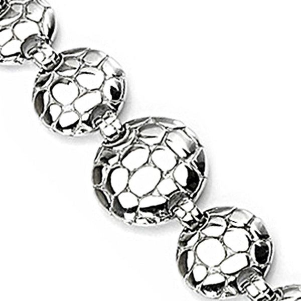 SPIKES 316L Stainless Steel Turtle Shell Link Bracelet