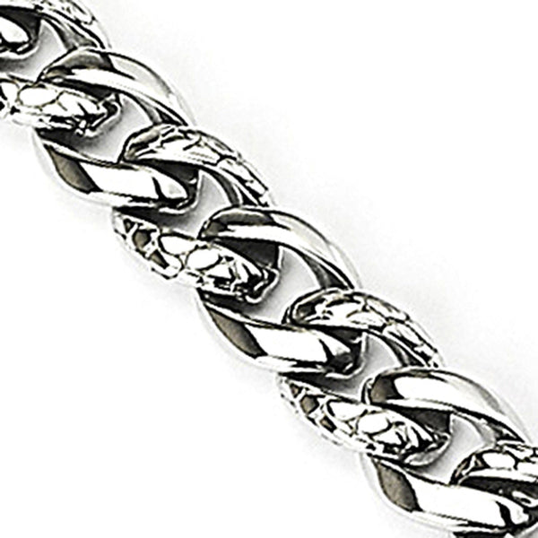 SPIKES 316L Stainless Steel Twisted Snake Skin Bracelet
