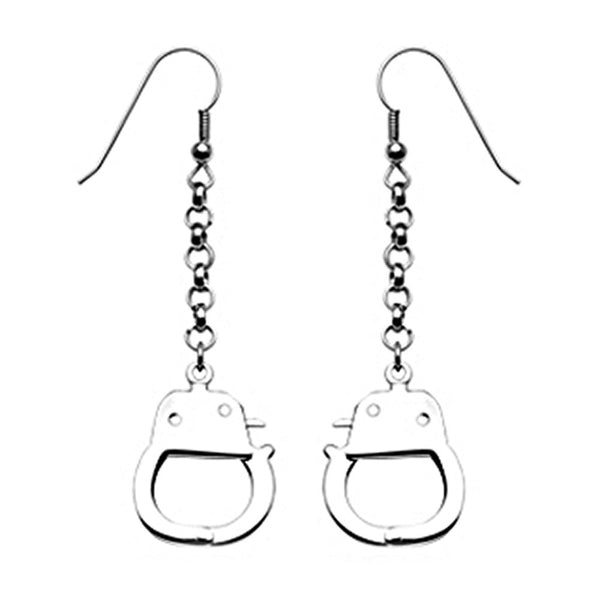 SPIKES 316L Stainless Steel Dangling Handcuff Earrings